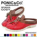 [ポニックアンドコー] PONIC&Co. CODY:PF13003 RED レッド 超軽量 EVA素材シューズ クロッグ サボ サンダル シューズ レディース メンズ (M6(24cm))
