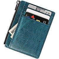 Wallet for Men Women Slim Leather Wallets Minimalist Front Pocket Sleeve RFID Blocking