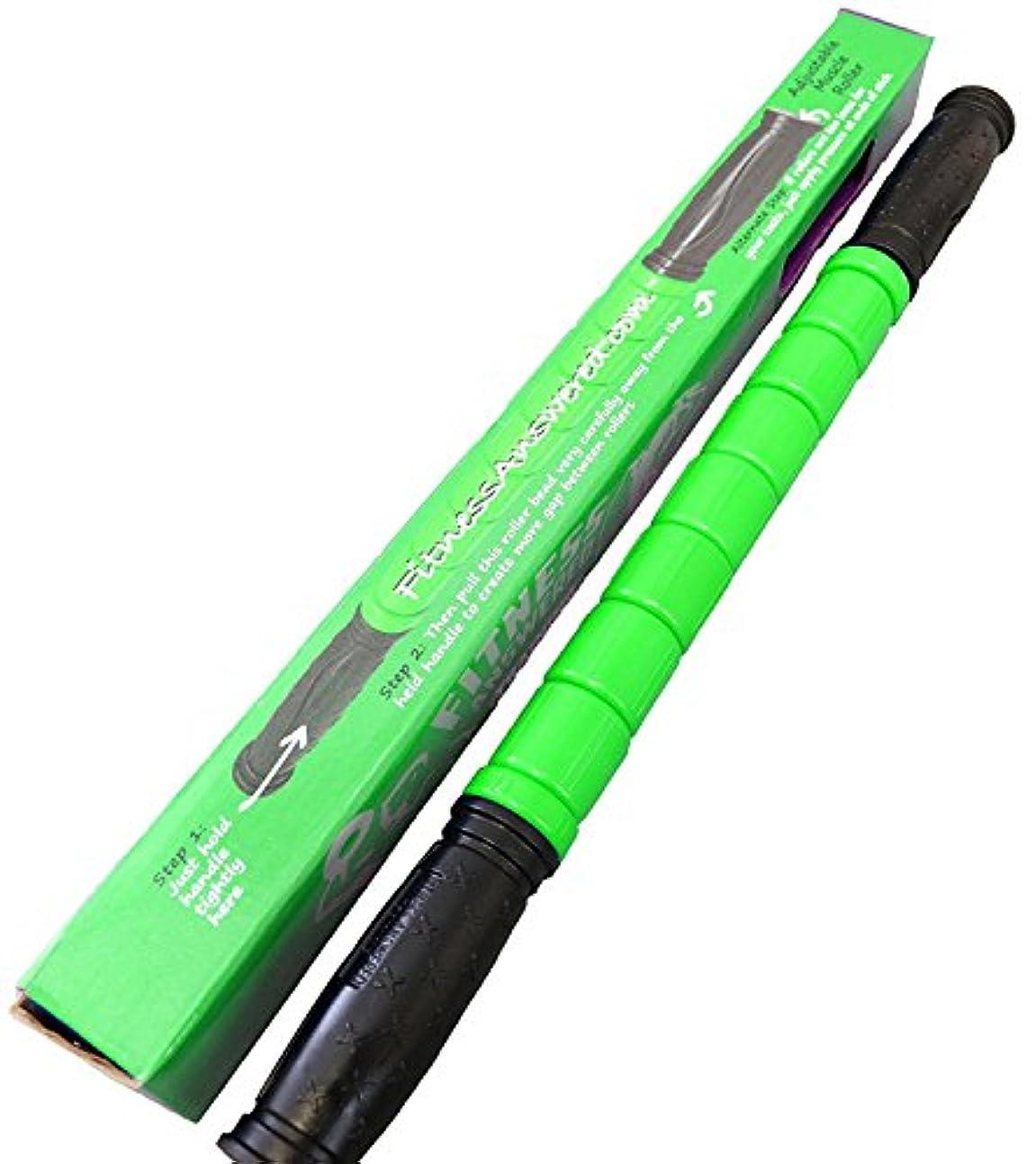 左落胆するどうやってThe Muscle Stick - 18 Only Adjustable Handle Massage Roller - Better Than Foam Roller - Best Deep Tissue - Trigger...