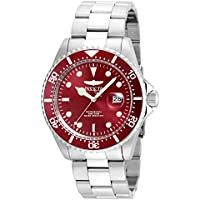 Invicta Men's 'Pro Diver' Quartz Stainless Steel Diving Watch, Color:Silver-Toned (Model: 22048)