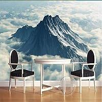 Weaeo 3D大壁の壁紙壁画Hd雲壮観な山の風景ぼやけた背景カスタムシルク写真の壁紙-200X140Cm