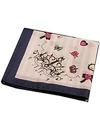 コットンハンカチwith装飾パターン、AシリーズのEall、ブルー