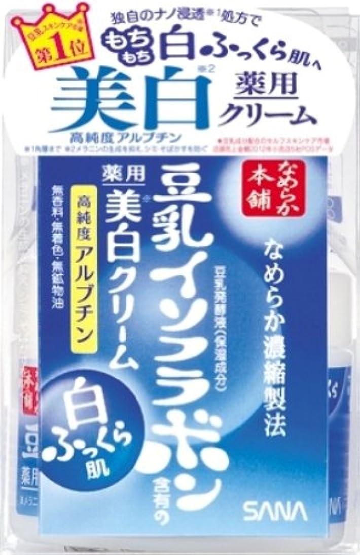 ミシン目辞書樹木なめらか本舗 薬用美白クリーム 50g