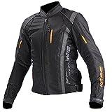 コミネ(Komine) バイクジャケット ライディングメッシュジャケット-グレゴリー ブラック/オレンジ L 07-095 JK-095