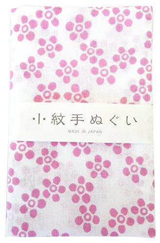 宮本 手拭い 小紋手ぬぐい 小花ピンク 33×90cm 33238