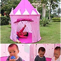 eatingbitiing & # xff08 ; R & # xff09 ; Princess Castle Play Tent with Glow in Dark Stars折りたたみ式テントfor Children