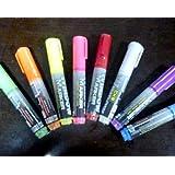 COM★MI-MARKER◆お祭り 作戦板 LED PRボード用 マーカー 8本セット マジック ペン