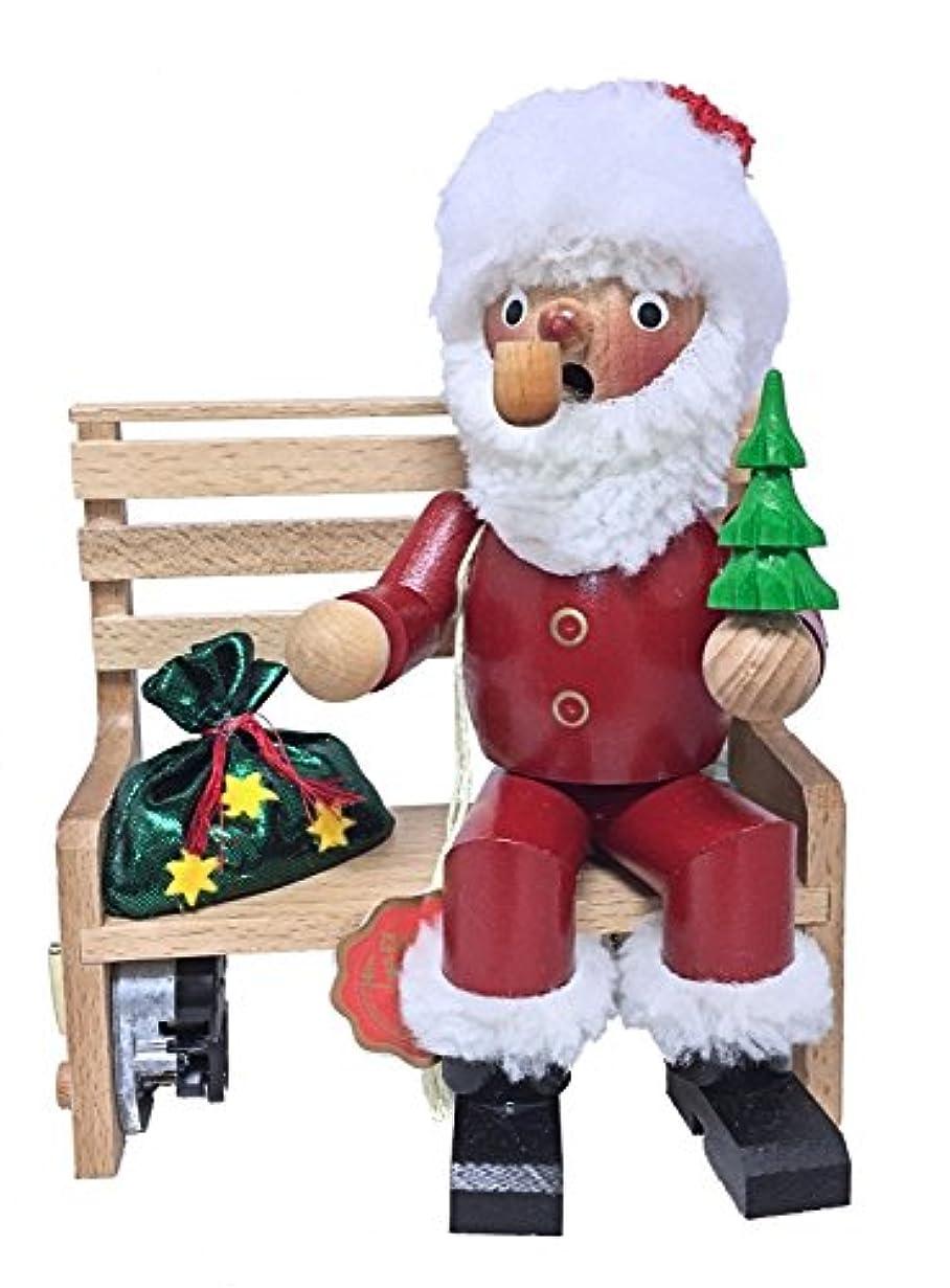 部モットー実業家Steinbach署名Santa onベンチMusical GermanクリスマスIncense Smoker新しい