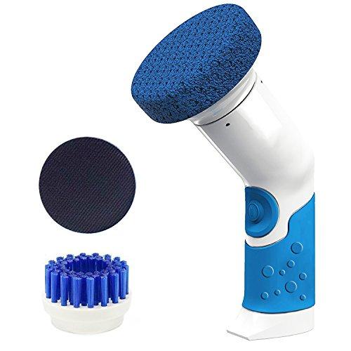 リスネコ(Lisnec)電動掃除用ブラシ お掃除ブラシ ハンディータイプ 風呂掃除 台所掃除 ポリッシャー 防水仕様