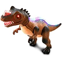 Mozlly R/C Remote Control Dinosaur Walks Roars Lights Up Brown 【You&Me】 [並行輸入品]