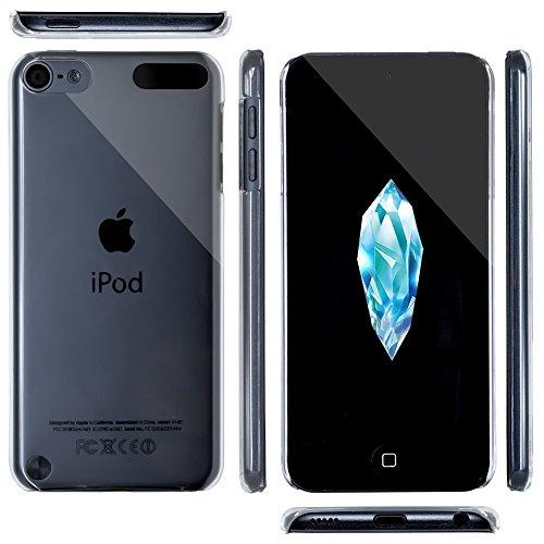OVER's iPod touch 6 ケース / アイポッド タッチ6 カバー ハードケース 【◇クリスタル -氷の結晶-】。゜美しい曲線 PCケース 4点セット 【365日保証付き】