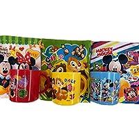 バイヤーズ Disney ディズニー 巾着 付き コップ 学校 幼稚園 保育所 必需品 歯みがき うがいなどに 便利 3個セット