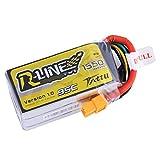 TATTU r-line Lipoバッテリーパック1550mAh 14.8V 95C 4s xt60プラグfor FPVレーシング