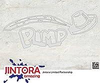JINTORA ステッカー/カーステッカー -PIMP - Custom Ride - PIMP - カスタムライド - 190 x 76mm - JDM/Die cut - 車/ウィンドウ/ラップトップ/ウィンドウ- お金