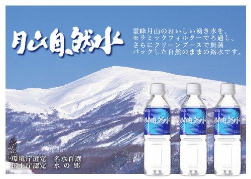 月山自然水 500ml×24本詰