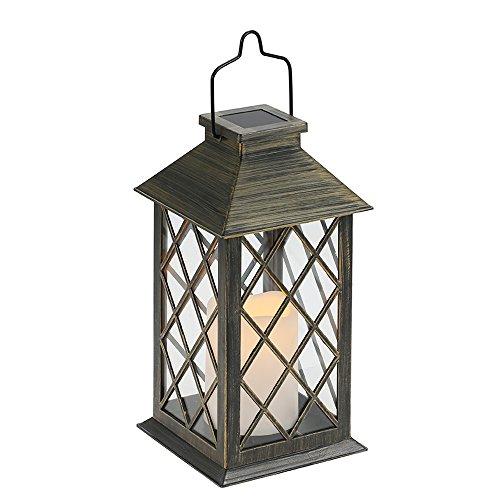 Tomshine ソーラーライト LED ランタン ランプ 复古スタイル 防水 無線 防犯 ガーデン ランプ テラス ベランダ 車道 歩道 屋外 屋内 照明 (ランタン形)