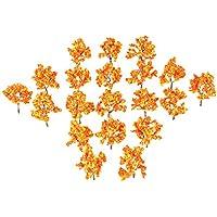 20本セット オレンジ色 モデルツリー ジオラマ 模型 プラスチック 樹木 木 森 材料 キット 公園 鉄道 建物 箱庭 風景 情景コレクションザ 教育 写真 7cm