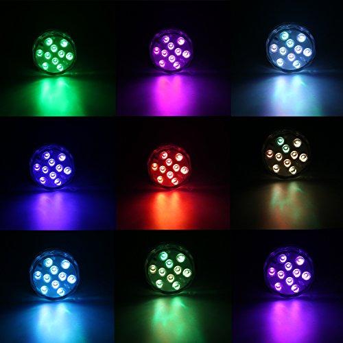 Nastima、2個、LEDダイビングライト、バッテリー駆動、防水赤外線リモートコントロールプール、プールパーティ、結婚式、庭、水族館、花瓶、家の装飾