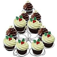 hindomステンレススチール3層13 Countマフィンカップケーキスタンド、菓子ケーキDispalyスタンドホルダータワー結婚、誕生日パーティーのお祝い、USストック