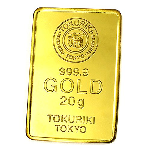 【20g ゴールドバー+1g 純銀 セット】 [純金]:TOKURIKI ゴールドバー 20g 日本製20gの純金 24金 Gold Bar  保証書付き / [純銀]:「銀の涙」1gの純銀の粒 日本製 シルバー 保証書付き