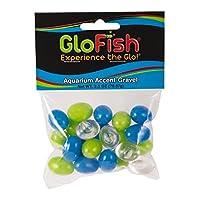 GloFish Accent Gravel for Aquarium, Blue/Green/Clear Pebbles by GloFish