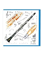 Little Snoring Gifts: Notelets Pack Of Five – Clarinet Design. For クラリネット