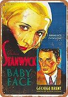 Shimaier 壁の装飾 メタルサイン ウォールアート - 1933 Baby Face Movie 縦30×横40cm ブリキ看板 店舗装飾 壁面ディスプレー おしゃれ 雑貨 通販 アメリカン ガレージ