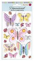 パンチスタジオ 立体 シール ステッカー 蝶 (Butterflies) 81789S