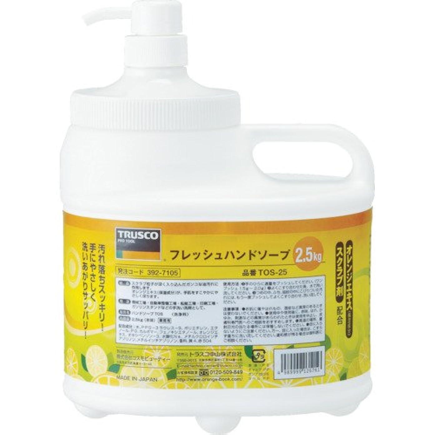 住人しみ泣くトラスコ中山 株 TRUSCO フレッシュハンドソープ 2.5L本体 TOS-ECO-25