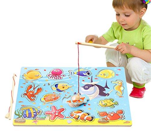 ディーマーク 木製パズル 釣りゲーム 海の生き物14