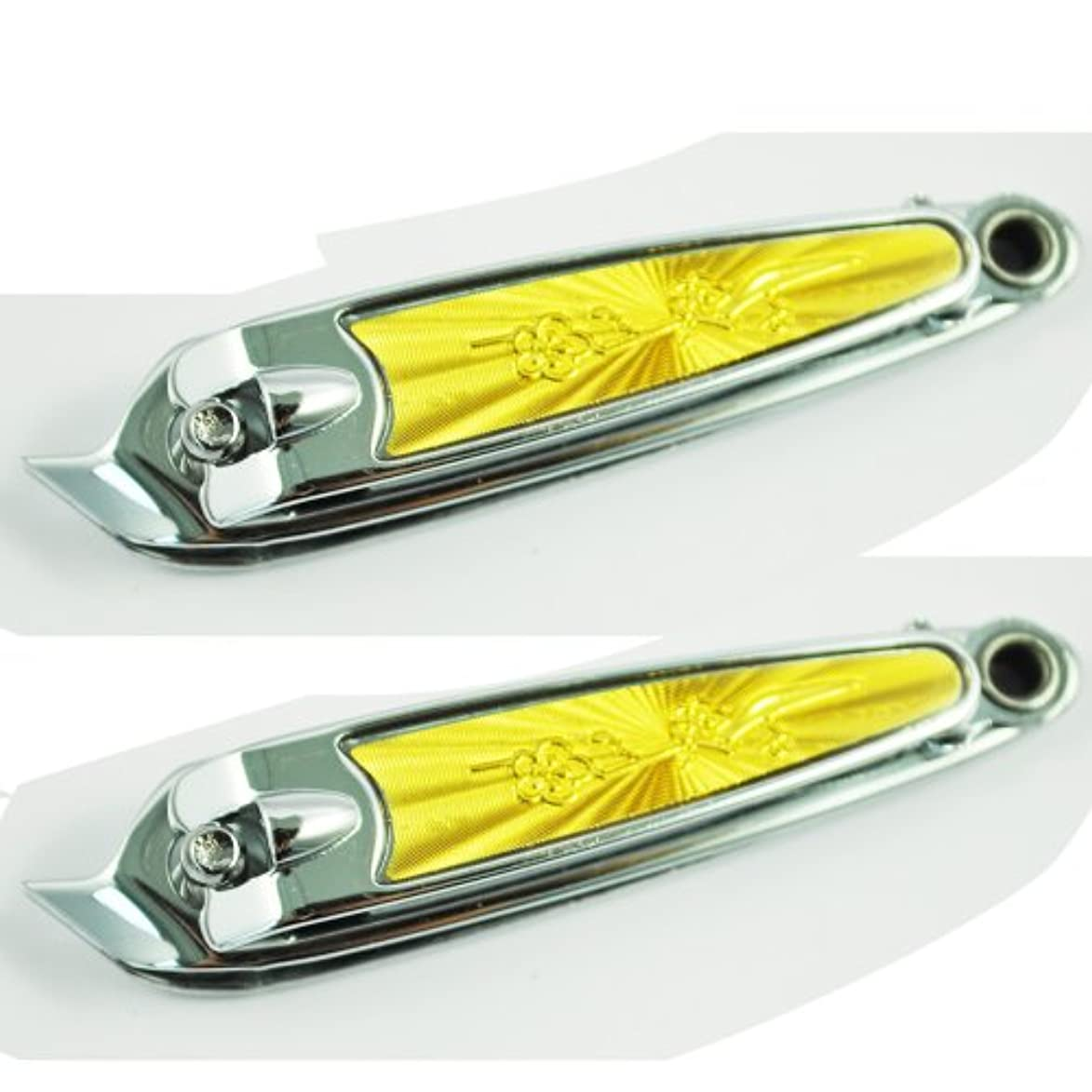 ゆり株式救援ツメ切り,SODIAL(R) 斜め口デザインフィンガーネイルクリッパーカッターx2