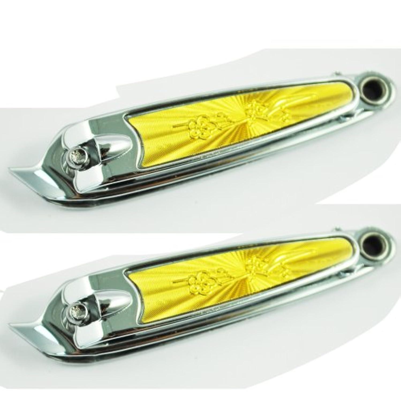 脅威制限するイディオムツメ切り,SODIAL(R) 斜め口デザインフィンガーネイルクリッパーカッターx2