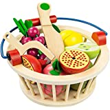 TOOGOO Children's Wooden Magnetic Cut Fruit and Vegetables Baby Cut and Cut Home Kitchen Toys