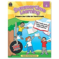 Summertime Learning, Reading, Writing, Math, Grade 4, 112 Pages (並行輸入品)