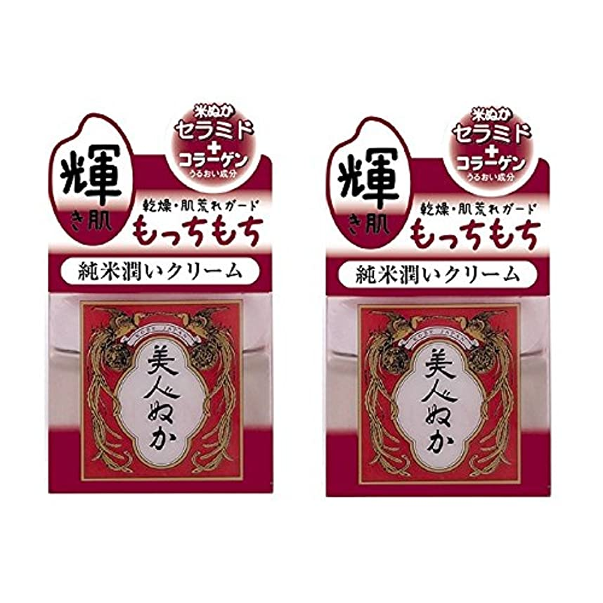 束傑出した磁器美人ぬか 純米潤いクリーム 43g×2セット