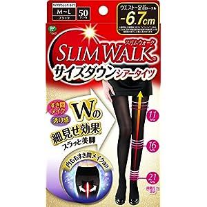 スリムウォーク (SLIM WALK) サイズダウンシアータイツ M~Lサイズ ブラック