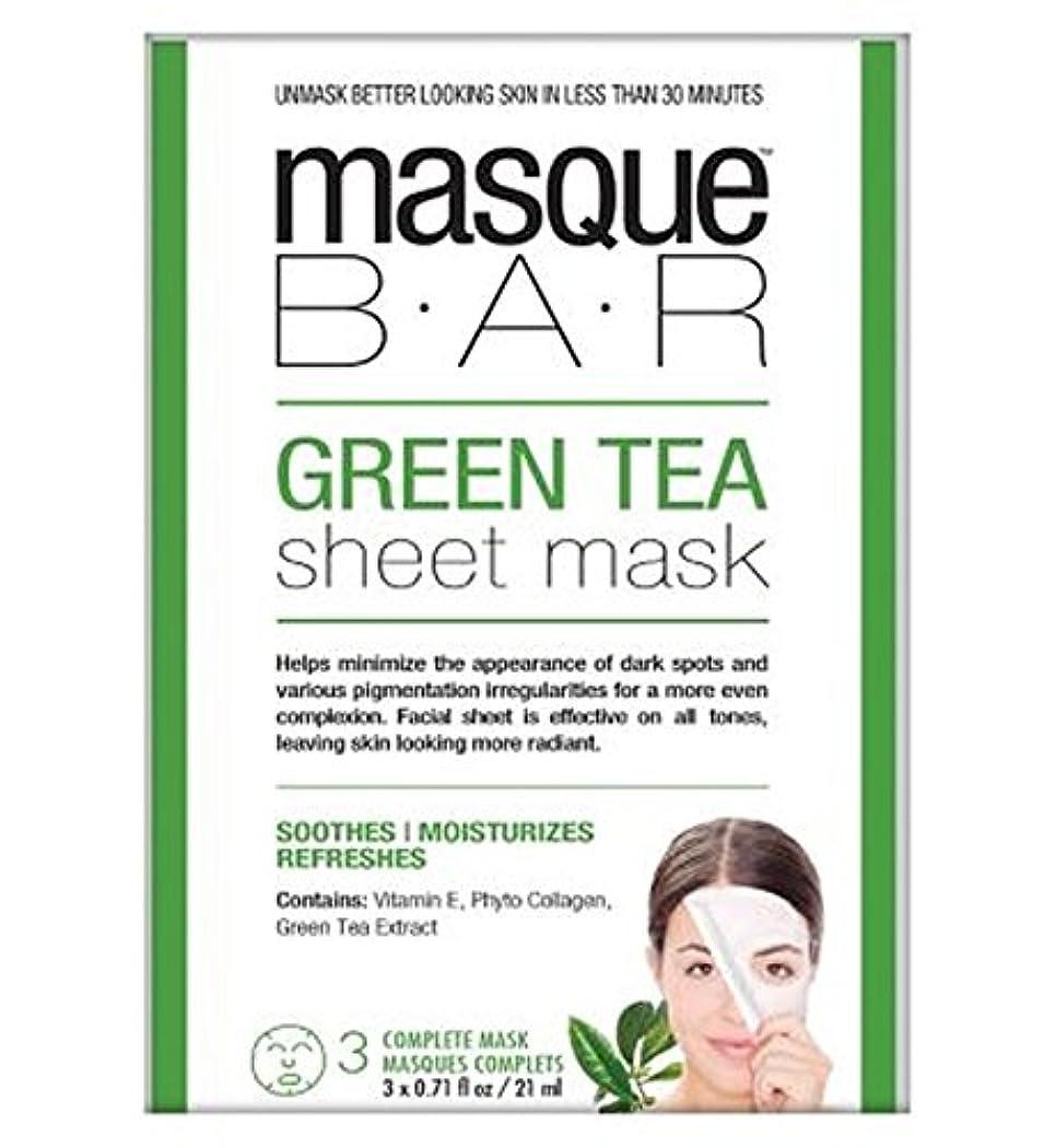 処理する塗抹悪名高いMasque Bar Green Tea Sheet Mask - 3 complete masks - 仮面劇バー緑茶シートマスク - 3完全なマスク (P6B Masque Bar Bt) [並行輸入品]