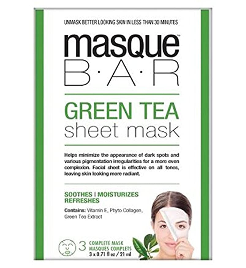 カウンタ契約真向こう仮面劇バー緑茶シートマスク - 3完全なマスク (P6B Masque Bar Bt) (x2) - Masque Bar Green Tea Sheet Mask - 3 complete masks (Pack of...