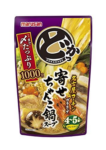 マルサン どかっ鍋 寄せちゃんこ鍋スープ 1000g ×4袋