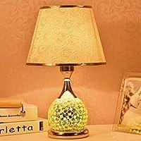 テーブルランプ ヨーロッパ式テーブルランプベッドルームベッドサイドランプ、リビングルームクリエイティブな結婚式テーブルランプ、ガラス装飾テーブルランプ、E27 ( 色 : A )