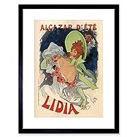 Theatre Ad Cheret Cafe Concert Alcazar Lidia Paris Framed Wall Art Print 劇場カフェコンサートパリ壁