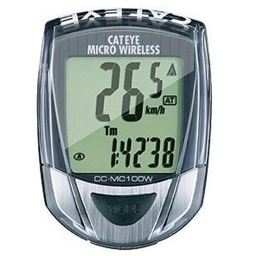 キャットアイ ワイヤレス サイクルコンピュータ ブラック CC-MC100W サイコン 無線 簡単取付 通勤通学 ツーリング