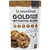Golden Brown Monk Fruit Sweetener with Erythritol (2.5 lb / 1.14 kg) - Perfect for Diabetics and Low Carb Dieters - 1:1 Sugar Replacement - No Calorie Sweetener, Non-GMO