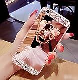 液晶保護フィルム付き  iphone6s ケース かわいい 鏡機能付き キラキラ iPhone6 ケース iPhone6s ケース デコ  ダイヤモンド Finger Ring Bumper Case iPhone 6s 落下防止リング付き 衝撃吸収 iPhone6s用ケース 4.7インチ  iPhone6s iPhone6 ケース カバー ゴージャス 可愛いビア 女性向け RKS326A