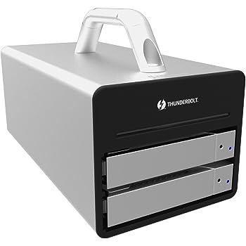 SOHORAID DR2 (DR2-TB2S) Thunderbolt2搭載 RAID0/RAID1/JBOD 2ベイRAIDケース