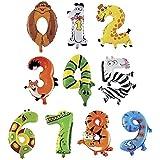 HOPIC 組み合わせ 自由 バルーン 風船 飾り付け イベント 装飾 [ アニマル ] (数字:7)