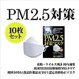 高機能マスク 東レセハン社 不織布を使用 N95 PM2.5対策マスク 10枚セット