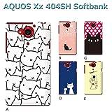 AQUOS Xx 404SH (ねこ03) E [C007202_05] 猫 にゃんこ ネコ ねこ柄 アクオス スマホ ケース softbank