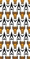 ポスター ウォールステッカー 長方形 シール式ステッカー 飾り 90×47cm Lsize 壁 インテリア おしゃれ 剥がせる wall sticker poster 動物 アニマル ヒョウ 011656