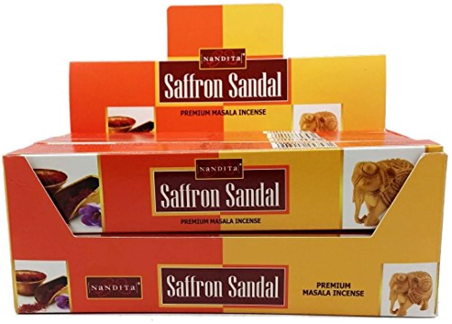 関係する家禽食品Nandita SaffronサンダルプレミアムMasala Incense Sticks 15 g BX レッド